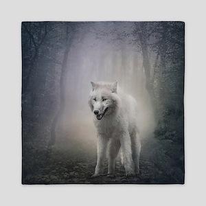 White Wolf Queen Duvet
