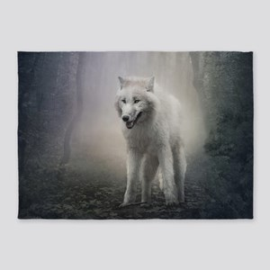 White Wolf 5'x7'Area Rug