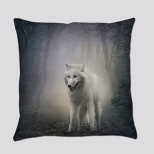 White Wolf Everyday Pillow