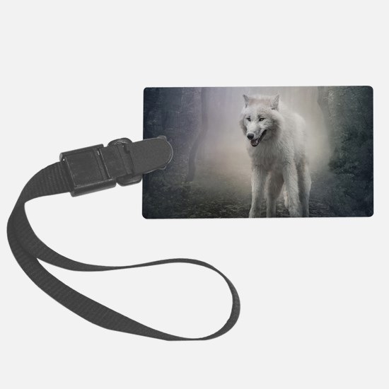 White Wolf Luggage Tag