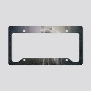 White Wolf License Plate Holder