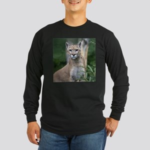 Mountain Lion Long Sleeve Dark T-Shirt