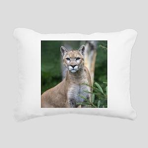 Mountain Lion Rectangular Canvas Pillow