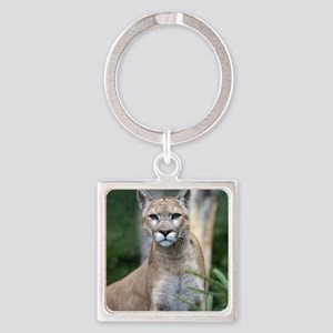Mountain Lion Square Keychain