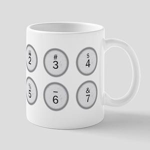 Typewriter Keys 234567 Mugs