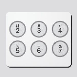 Typewriter Keys 234567 Mousepad