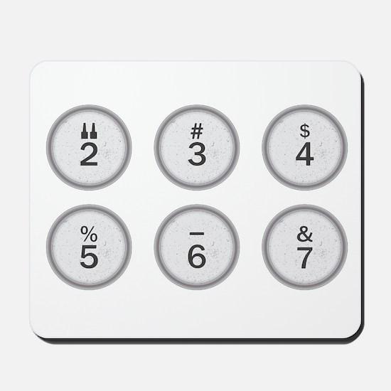 Typewriter Keys 234567 Mousepad