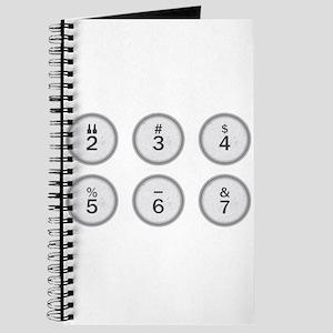 Typewriter Keys 234567 Journal