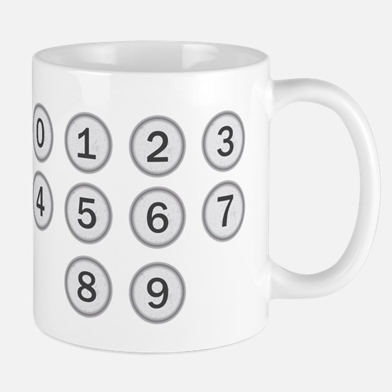 Typewriter Keys Numbers Mugs