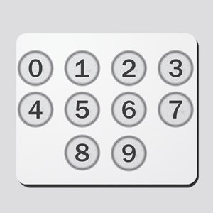 Typewriter Keys Numbers Mousepad