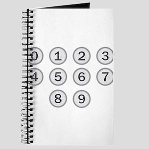 Typewriter Keys Numbers Journal