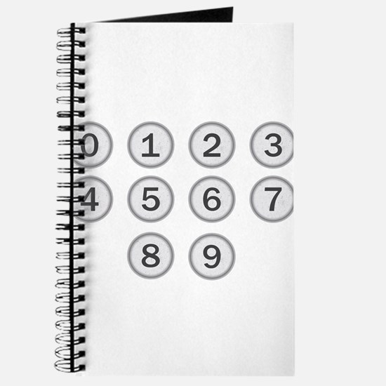 Typewriter Keys Numbers Journal