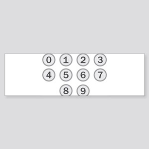 Typewriter Keys Numbers Bumper Sticker