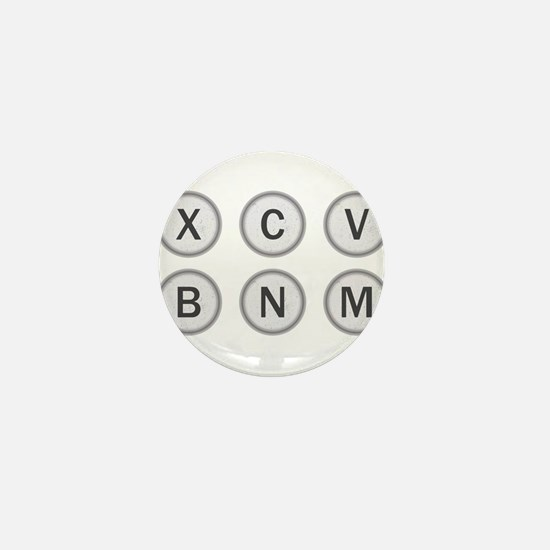 Typewriter Keys XCVBNM Mini Button