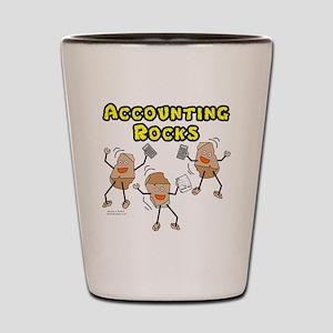 Accounting Rocks Shot Glass