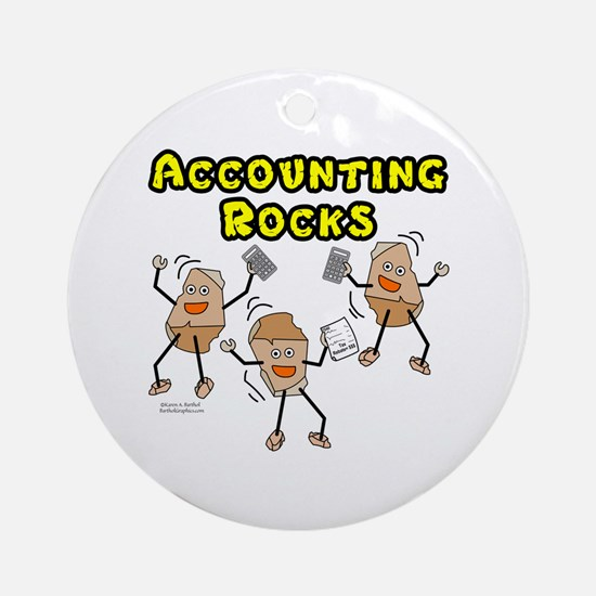 Accounting Rocks Round Ornament