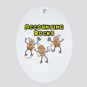 Accounting Rocks Oval Ornament
