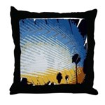Abstract Los Angeles Skyline Throw Pillow