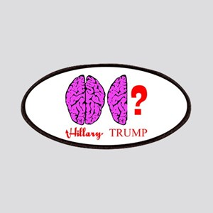 Hillary And Trump Brains Patch