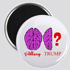 Hillary And Trump Brains Magnets