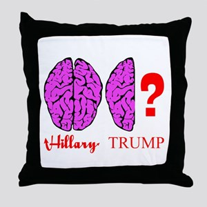 Hillary And Trump Brains Throw Pillow