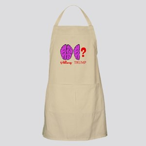 Hillary And Trump Brains Apron