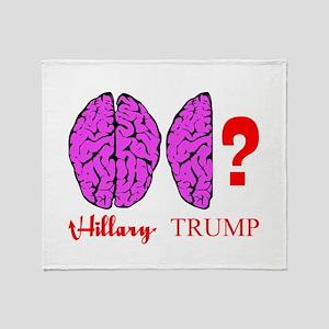 Hillary And Trump Brains Throw Blanket