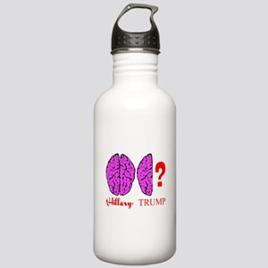Hillary And Trump Brains Water Bottle