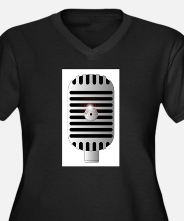Classic Microphone Plus Size T-Shirt