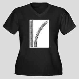 Tyre Tread Marks Plus Size T-Shirt