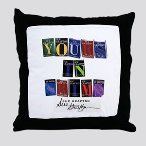Yours In Crime Throw Pillow