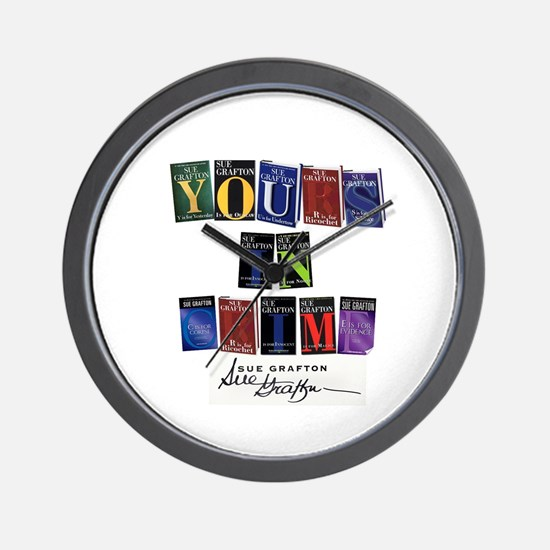 Yours In Crime Wall Clock