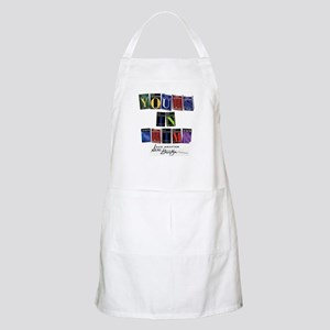 Yours In Crime Light Apron