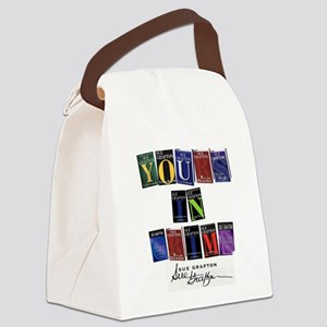 Yours In Crime Canvas Lunch Bag
