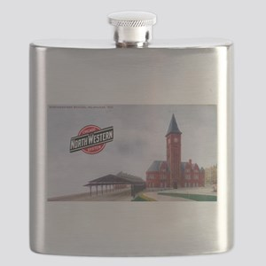 Milwaukee's Northwestern Depot Flask