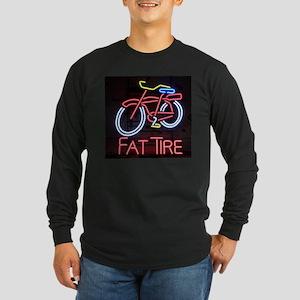 Neon Fat Tire Sign Long Sleeve T-Shirt