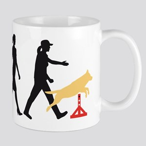Evolution of woman dog sport agility Mugs