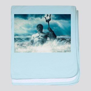 Neptune Rising from the Waves baby blanket