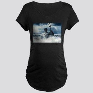 Neptune Rising from the Waves Maternity T-Shirt