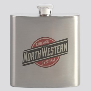 Chicago & Northwestern Angled Flask