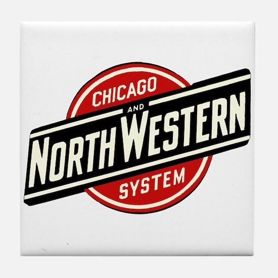 Chicago & Northwestern Angled Tile Coaster