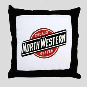 Chicago & Northwestern Angled Throw Pillow
