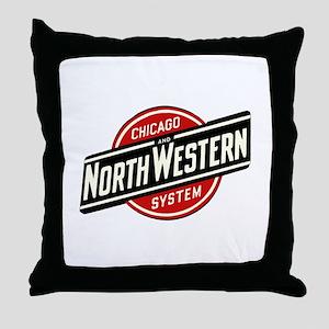 Chicago & Northwestern Angled Throw Pillow