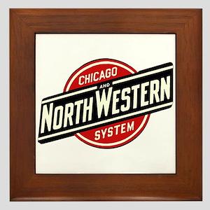 Chicago & Northwestern Angled Framed Tile
