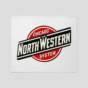 Chicago & Northwestern Angled Throw Blanket