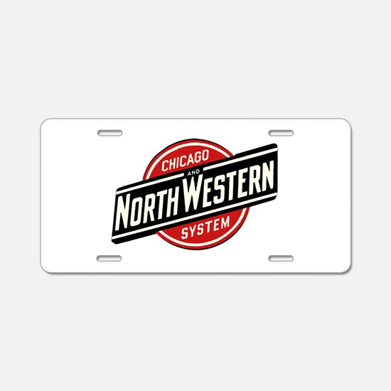 Chicago & Northwestern Aluminum License Plate
