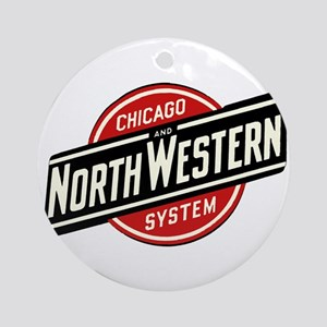 Chicago & Northwestern Angled Round Ornament
