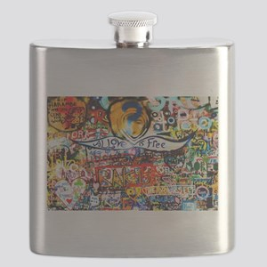 All Love is Free Graffiti Flask