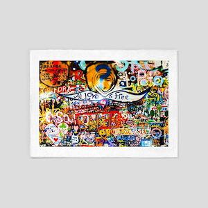 All Love is Free Graffiti 5'x7'Area Rug