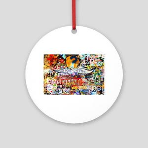 All Love is Free Graffiti Round Ornament